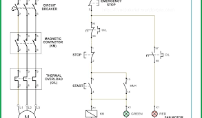 dol starter circuit diagram explanation schematic beautiful wiring single phase