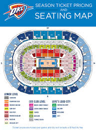 Oklahoma City Thunder Arena Seating Chart Season Ticket Member Benefits Oklahoma City Thunder