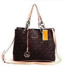 Michael Kors Chain Large Coffee Satchel