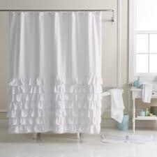 white shower curtains. LC Lauren Conrad Ella Ruffle Fabric Shower Curtain. White Gray Blush Teal White Shower Curtains