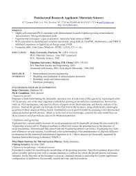 Science Resume Template Magnificent PhD CV Postdoctoral Research