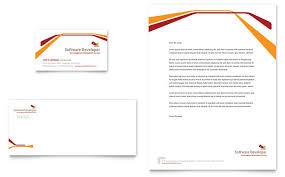 Letterhead Templates Design Software Developer Business Card Letterhead Template Design