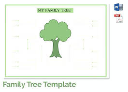 Family Tree Template Free Printable Word Excel Printouts Microsoft