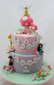 2 Tier Tinkerbell Theme Birthday Cake For Girljpg