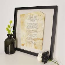 Paper Flower Lyrics Personalised Framed Floating Lyrics Print Find Me A Gift