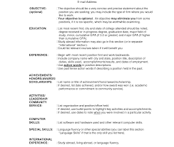 Basic Job Resume Examples Basic Resume Outline Template Free All General Format Easy Example 35