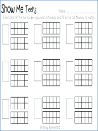counting worksheet tens frame by ten worksheets kindergarten free