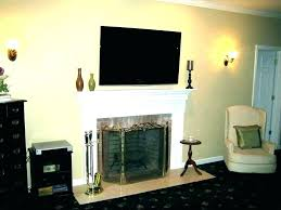 ed ing how to mount tv over fireplace mounting above gas hiding wires