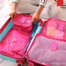 brand travel storage bag set for clothes tidy organizer pouch suitcase home closet divider container organiser handbag storage best handbags from