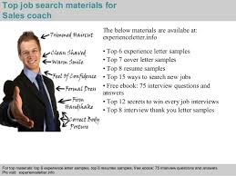 4 top job search materials for sales coach sales coach resume