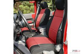 seat cover kit black red 11 18 jeep wrangler unlimited jku 4 door