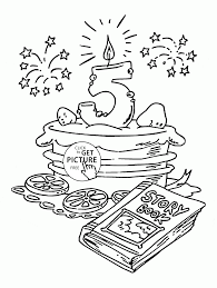 Happy 5th Birthday Coloring Page For