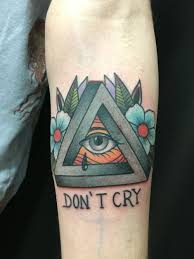 Impossible Triangle With Eye Traditional Tattoo Tattoos