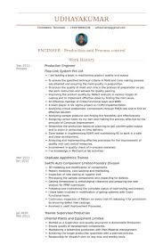 Production Engineer Resume samples