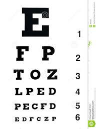 Eye Exam Chart Stock Image Image Of Examination Isolated
