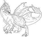 Раскраски робот-дракон