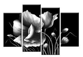 image is loading large grey black and white floral flower canvas  on white floral canvas wall art with large grey black and white floral flower canvas wall art picture