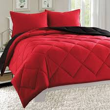 quilted bed covers. Wonderful Bed Empire 3pc Reversible Comforter Set Microfiber Quilted Bed Cover King Size   Red  Black In Covers E
