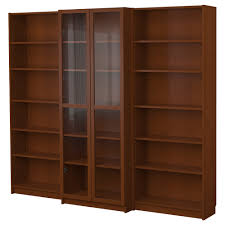 bookcases with doors on bottom. BILLY Bookcase Combination With Doors - Medium Brown IKEA. Adjust Shelves To Fit Books, Stack Boxes On Bottom For Storage. Bookcases