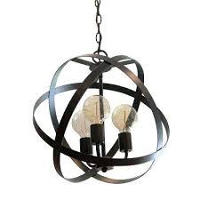 black orb chandelier globe chandeliers lighting the home depot 3 light a new decor benita antique black orb chandelier