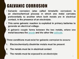 Galvanic Corrosion Chart Pdf Corrosion