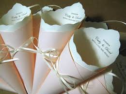 paper cones wedding. custom wedding confetti cones for the reception. fill with anything ie glitter, sequins, paper z