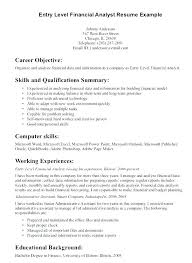 Example Of Entry Level Resume Stunning Resume Summary Of Qualifications Examples Project Manager