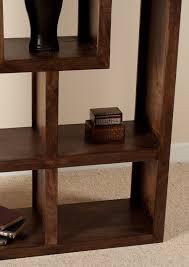 mango walnut tall open bookcase shelving unit 3