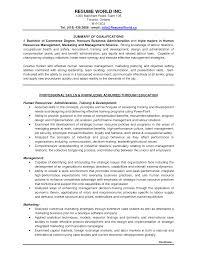 Sample Resume Management Entry Level Management Resume Samples Localblack Info