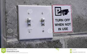 Turn Off Lights Stickers Free Turn Off Light Switch By Saving Power Concept Stock Image