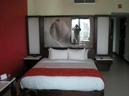 The Condado Plaza Hilton: My husband liked the lighted glass headboard