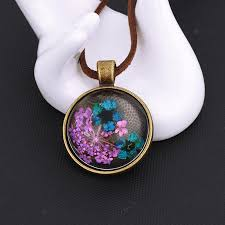 2019 nuoying vintage glass flower pendant necklace handmade glass dome flower necklace for women s gift from nuoying 1 51 dhgate com