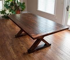 barn kitchen table crossed leg barn wood table by valebruckcom