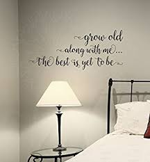 wall decor plus more wdpm3879 grow old along with me bedroom wall saying vinyl on wall art sayings for bedroom with amazon vwaq i love you more decal wall quote love wall art
