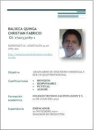 Ejemplo De Curriculum Vitae En Word Definicion Y Ejemplos De Curriculum Vitae Demo