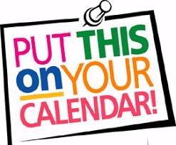 Mark Your Calendar! - Stamp Candy | Pta meeting, Calendar clipart, Online  event