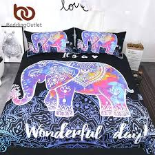 colorful duvet covers colorful elephant bedding set queen size bohemian duvet cover mandala bed set black