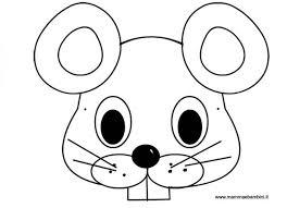 Maschera Topo Da Colorare Per Bambini Mamma E Bambini