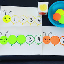 caterpillar color and counting game free printable activities for 2 2 5 year olds