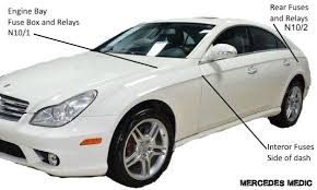 2005 2011 mercedes benz cls fuse list  at 2006 Mercedes Cls500 Bluetooth Wiring Diagram