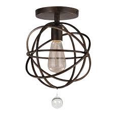 crystorama lighting 9226 eb solaris chandelier 1 light bronze ceiling mount crystorama lighting 9226 eb solaris