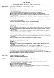 Operations Technical Support Resume Samples Velvet Jobs