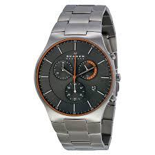 skagen men s skw6076 balder titanium home shopping fashionwatchesskagen men s skw6076 balder titanium chronograph watch image