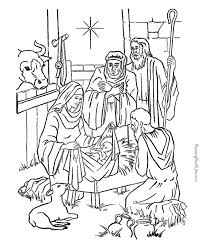Manger Scene Coloring Page Coloring Pages Coloring Home