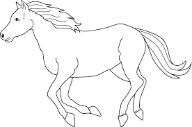 Race Horse Coloring Pages Printable Rocking Horses Wild To Print