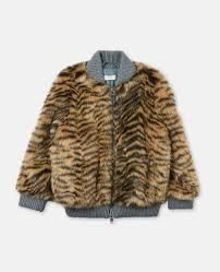 tilly faux fur tiger coat stella mccartney kids