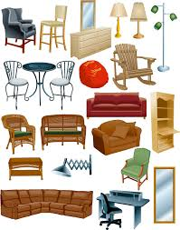 Room Designing  Typical Room Plan With Furniture Set Vector Furniture Clipart For Floor Plans
