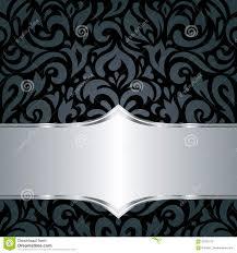 De Bloemen Zwarte Zilveren Achtergrond Van Het Luxe Uitstekende