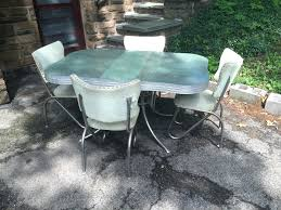 vintage formica table green and chrome retro kitchen table and chairs