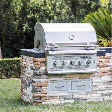 american muscle grill 36 inch 5 burner built in dual fuel wood charcoal natural gas grill amg36 ng bbqguys
